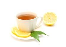 Tea with lemon. Isolated on white Stock Photo