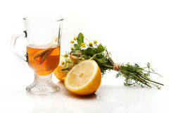 Tea with lemon Stock Images