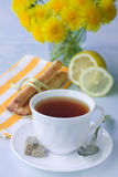 Tea with a lemon Stock Photo