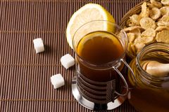 Tea and lemon Stock Photography