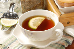 Tea with a lemon Royalty Free Stock Images