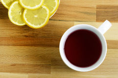 Tea and lemon Stock Photos