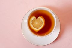 Tea with lemon Stock Photos