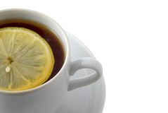 Tea with lemon. Isolated over white Stock Image