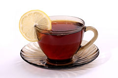 Tea with a lemon. Royalty Free Stock Photography