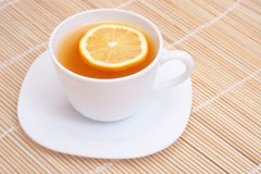 Tea with lemon. Royalty Free Stock Photography