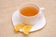 Tea with lemon. Royalty Free Stock Photo