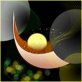 Tea with a lemon, abstraction Royalty Free Stock Image