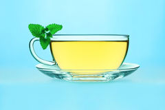 Tea with lemon balm Royalty Free Stock Photography