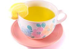Tea with lemon and biscuit Royalty Free Stock Image
