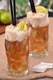 Tea lemon cocktail. Royalty Free Stock Photos