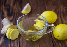 Tea with a lemon and ginger Royalty Free Stock Photos