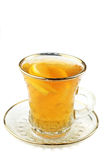 Tea with lemon in glass cup Stock Images