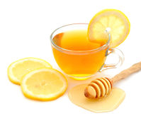 Tea with lemon and hone Royalty Free Stock Photos