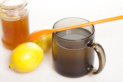 Tea with lemon and honey Royalty Free Stock Image