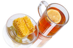 Tea with lemon and honey Stock Images