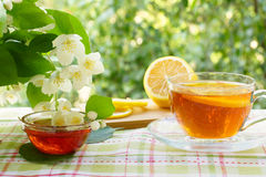 Tea with lemon and honey. Royalty Free Stock Photography