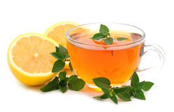 Tea with lemon and mint Stock Images