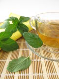 Tea with lemon mint Stock Photography
