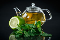 Tea with lemon and mint Stock Image