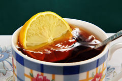 Tea with lemon. Royalty Free Stock Photos