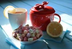 Tea and lemon. Tasty smack beautiful Stock Photo