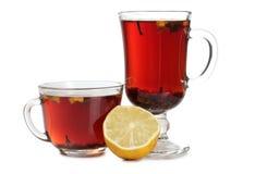 Tea and lemon three four Royalty Free Stock Photos