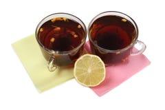 Tea and lemon three one Royalty Free Stock Photography