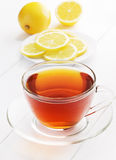 Tea and lemons Stock Photography
