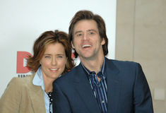 Tea Leoni, Jim Carrey Photos libres de droits