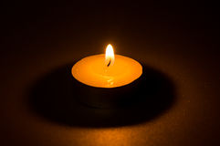 Tea light candle Stock Photo