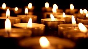 Tea Light Candles blurred stock video
