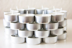 Tea light candles design spa Royalty Free Stock Photography