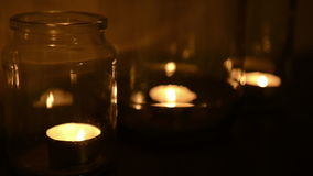 Tea Light Candles stock video