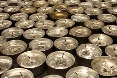 Tea lights extinguished Royalty Free Stock Photos
