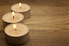 Tea lights Stock Image