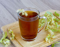 Tea with lime color Royalty Free Stock Images