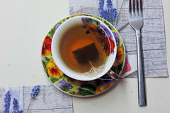 Tea with lime Stock Photography