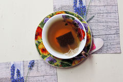 Tea with lime Stock Photo