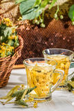 Tea with lime and honey Royalty Free Stock Photography
