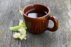 Tea with linden stock photos