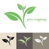 Tea. Logo royaltyfri illustrationer