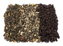 Tea loose dried tea leaves Royalty Free Stock Photos