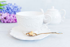Tea with love Royalty Free Stock Image