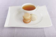 Tea and macaroons Royalty Free Stock Photos