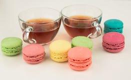 Tea with macaroons Stock Photo