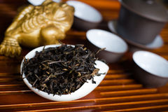 Tea macro. Chinese tea in pile macro Royalty Free Stock Images