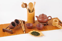 Tea making set Royalty Free Stock Photos
