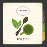 Tea map. Menu for restaurant, cafe, bar, coffeehouse Stock Image