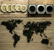 Tea map. Royalty Free Stock Photography